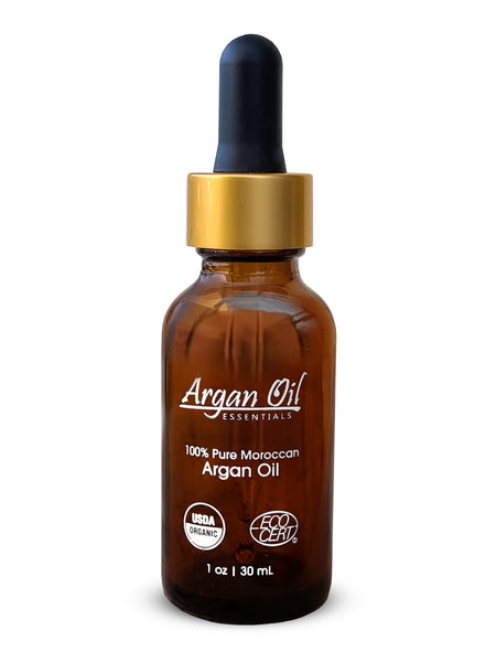 100% Pure Organic Argan Oil (30ml/1oz) - 2 BOTTLES PACK - 100% Pure Organic Argan Oil for your face and skin