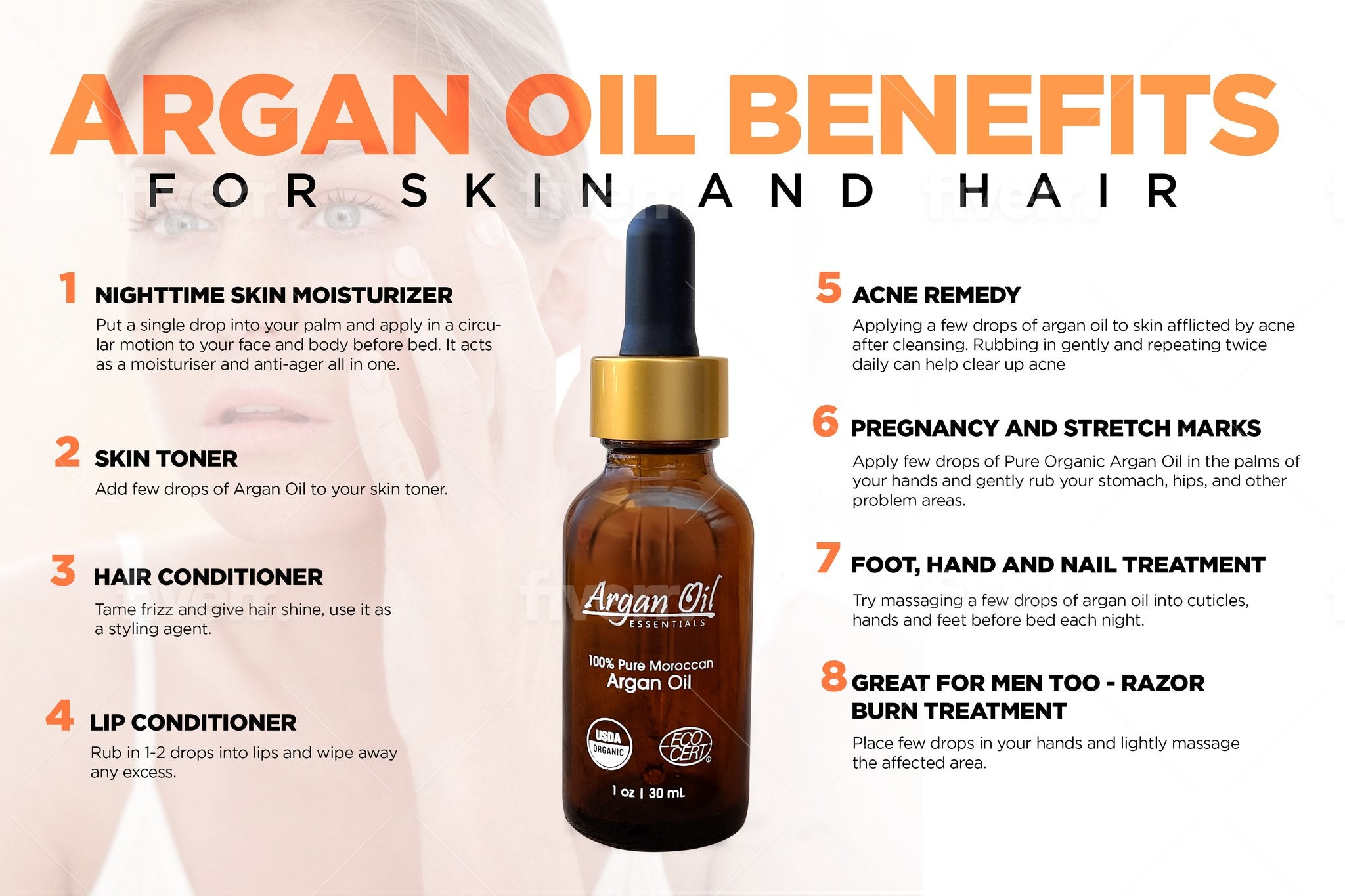 100% Pure Organic Argan Oil