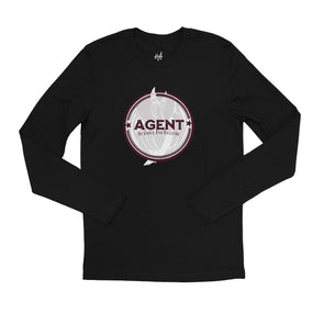 Agent Long Sleeve Tee in Black by Harper Ashton Designs - Sassy Unisex Graphic Long Sleeve T-Shirt