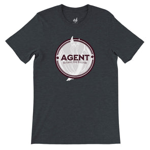 Agent Tee in Dark Grey Heather by Harper Ashton Designs