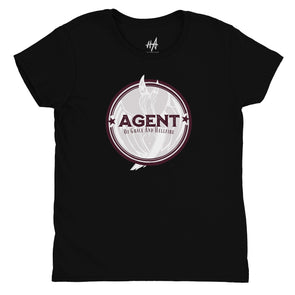 Agent Womens Fashion Fit Tee in Black by Harper Ashton Designs