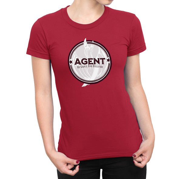 Agent Womens Fashion Fit Tee in Red by Harper Ashton Designs