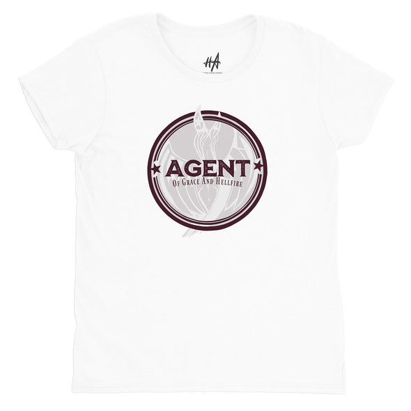 Agent Womens Fashion Fit Tee in White by Harper Ashton Designs