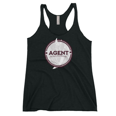 Agent Womens Racerback Tank in Vintage Black by Harper Ashton Designs