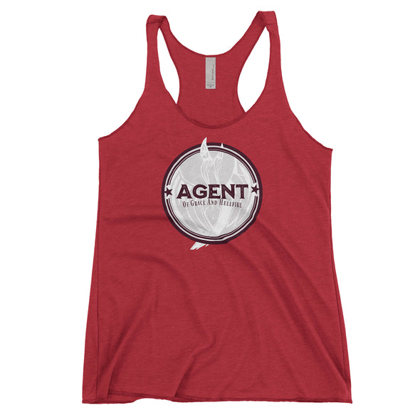 Agent Womens Racerback Tank in Vintage Red by Harper Ashton Designs