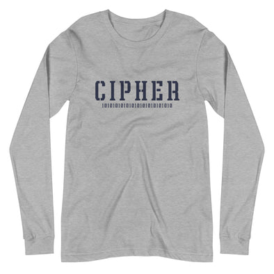 Cipher Long Sleeve Tee in Athletic Heather by Harper Ashton Designs