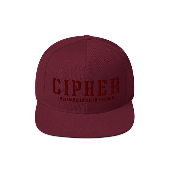Cipher Snapback in Maroon by Harper Ashton Designs