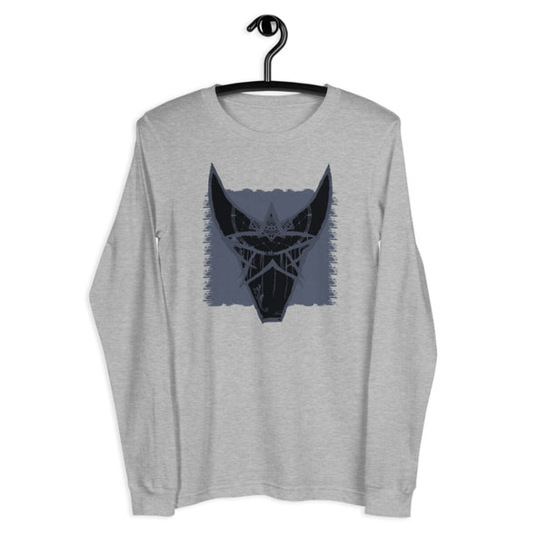 Goat Long Sleeve Tee in Athletic Heather by Harper Ashton Designs
