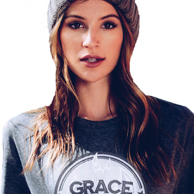 Grace and Empire Unisex Tee in Dark Grey Heather by Harper Ashton Designs