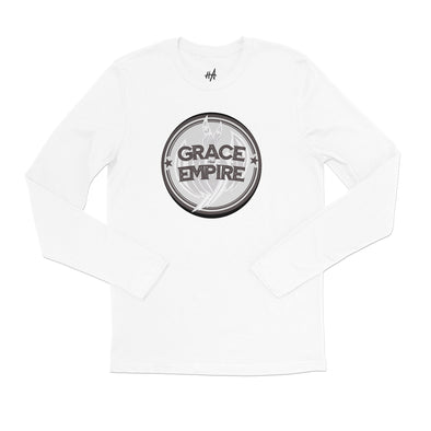 Grace and Empire Long Sleeve Tee in White by Harper Ashton Designs