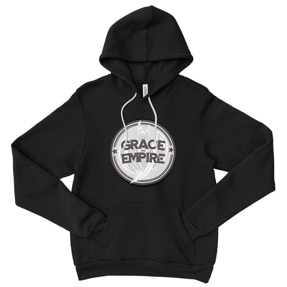 Grace and Empire Unisex Fleece Pullover Hoodie in Black by Harper Ashton Designs