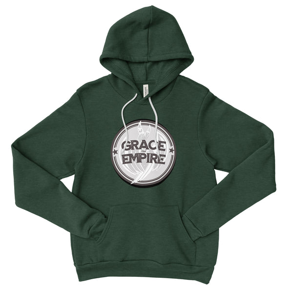 Grace and Empire Unisex Fleece Pullover Hoodie in Heather Forest by Harper Ashton Designs