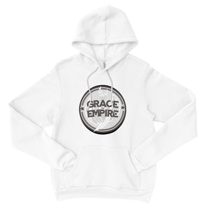 Grace and Empire Unisex Fleece Pullover Hoodie in White by Harper Ashton Designs