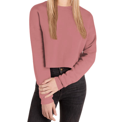HA Logo Crop Sweatshirt in Mauve by Harper Ashton Designs