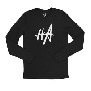HA Logo Long Sleeve Tee in Black by Harper Ashton Designs