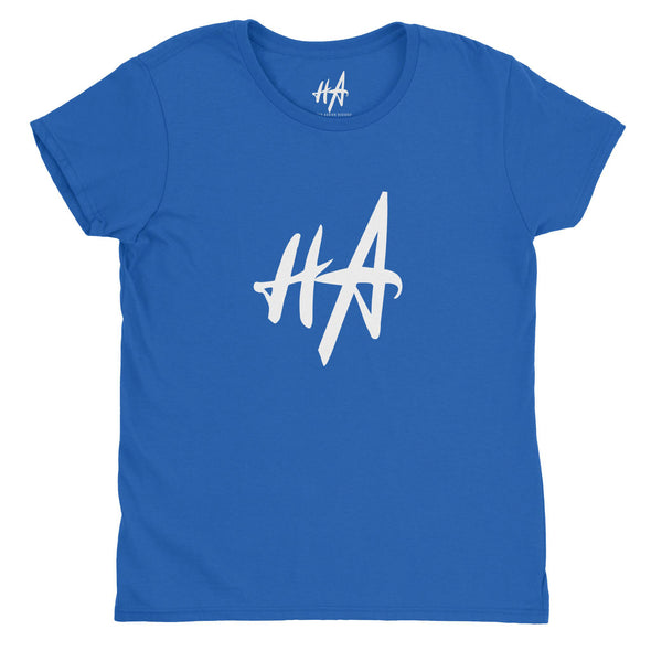 HA Logo Womens Fashion Fit Tee in Royal Blue by Harper Ashton Designs