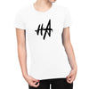 HA Logo Womens Fashion Fit Tee in White by Harper Ashton Designs