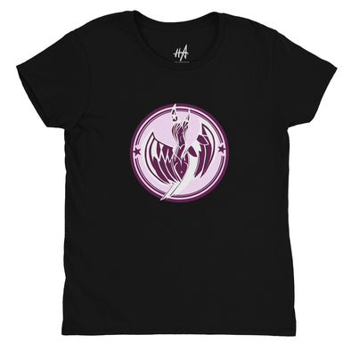 Pink Muse Siren Womens Fashion Fit Tee in Black by Harper Ashton Designs