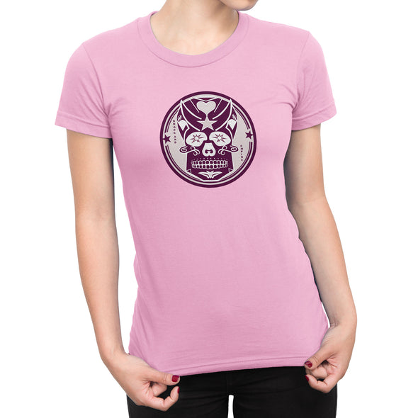 Pink Skully Circle of Grace Womens Fashion Fit Tee in Charity Pink by Harper Ashton Designs