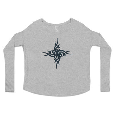 Urban Tribal Flowy Boho Long Sleeve Tee in Athletic Heather by Harper Ashton Designs