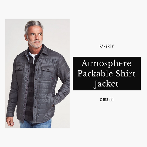 Faherty Brand Atmosphere Packable Shirt Jacket