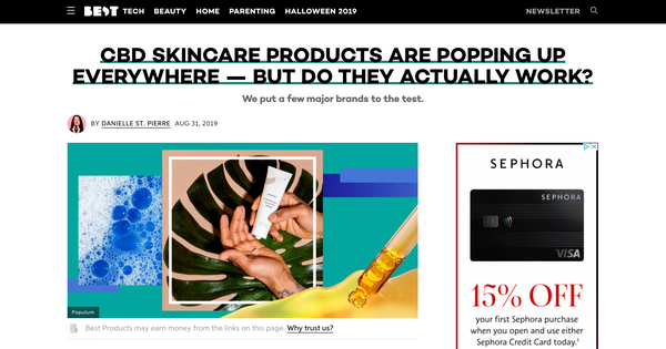 Best Products CBD skincare