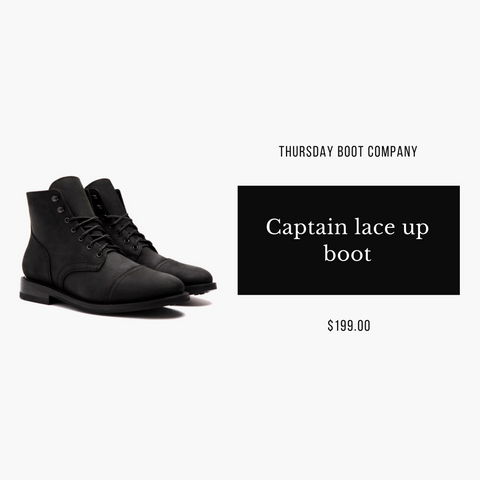 Thursday Boot company Captain in black matte