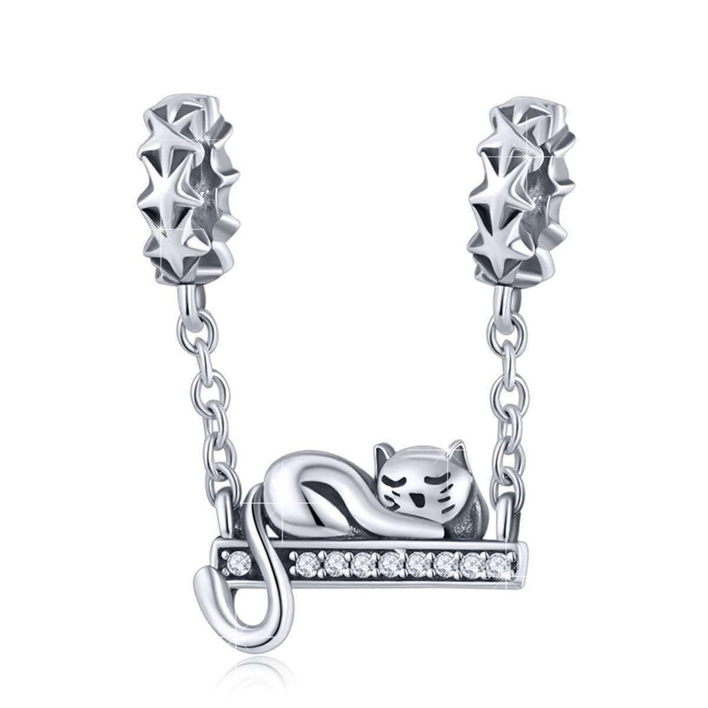 Charming Cat Sterling Bracelet/Necklace, , CatSaviours, CatSaviours