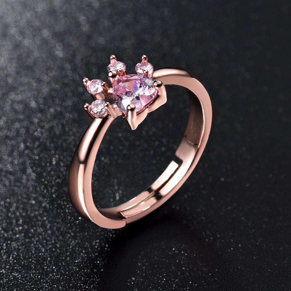 Rose Quartz Paw Ring, , CatSaviours, CatSaviours