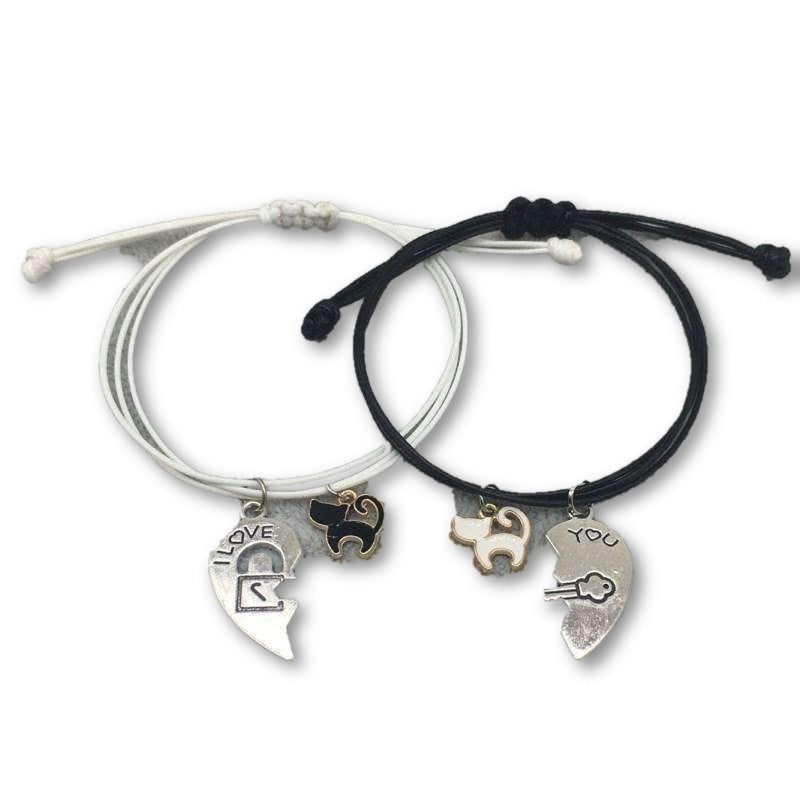 Fashion Couple/Friendship Bracelet Heart Bracelets, , CatSaviours, CatSaviours