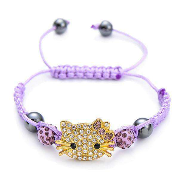 Colorful Crystal Cat Bracelet, , CatSaviours, CatSaviours