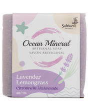 Load image into Gallery viewer, Lavender Lemongrass - Ocean Mineral Infused Soap