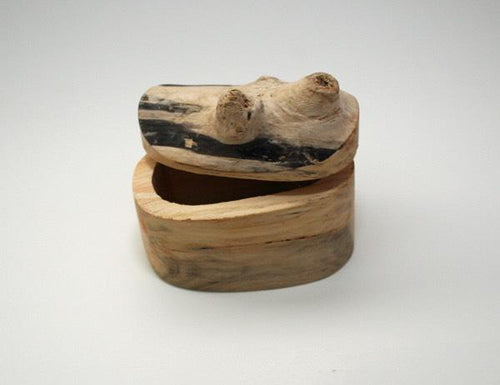 Canadian Hand Carved Juniper Salt Box