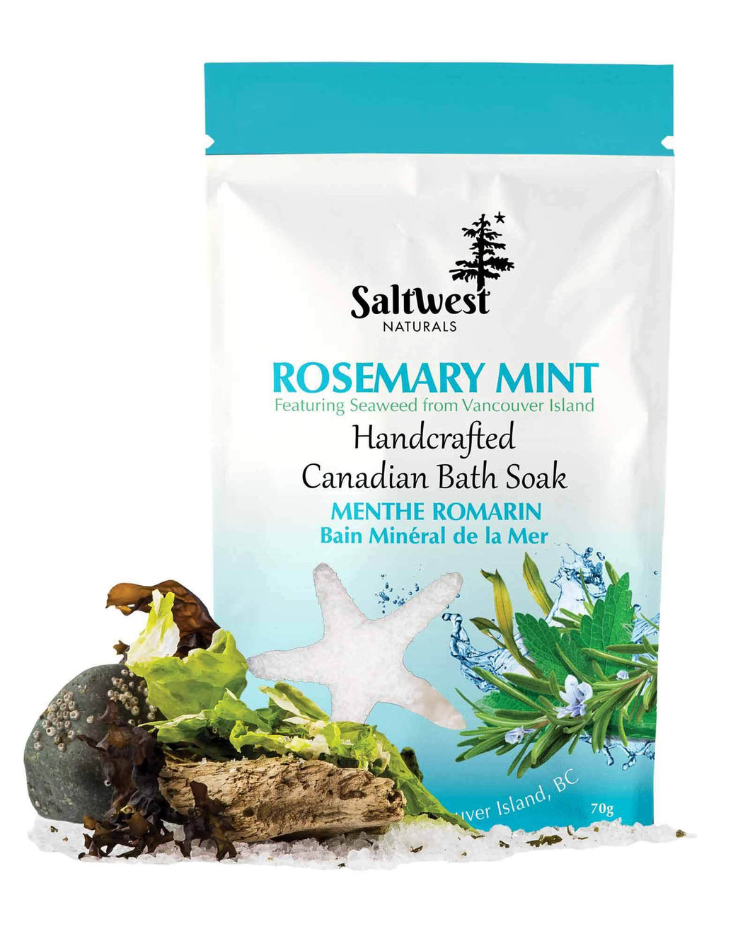 Organic Rosemary Mint Bath Soak 70g