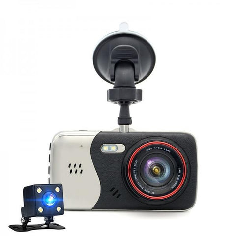 4.0 Inch IPS Screen Car DVR Novatek NTK96658 Car Camera T810 Oncam Dash Camera Full HD 1080P Video 170-Degree Dash Cam Black & Silver Gray