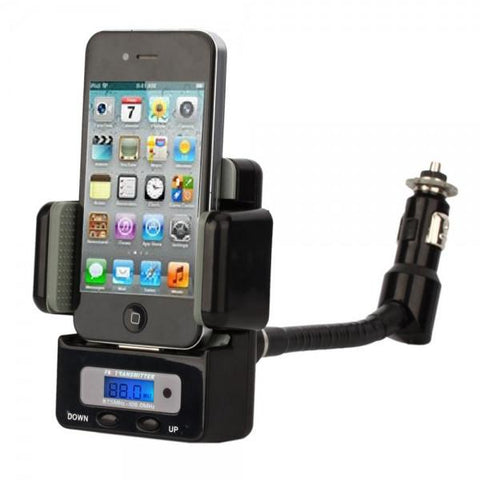 9-in-1 FM Hands-free Car Kit FM Transmitter for iPod/iPhone 3/4/4S Black