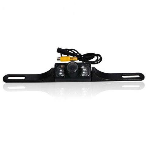 CP006 Waterproof Night Vision HD Car Rear View Camera with LED Light Black