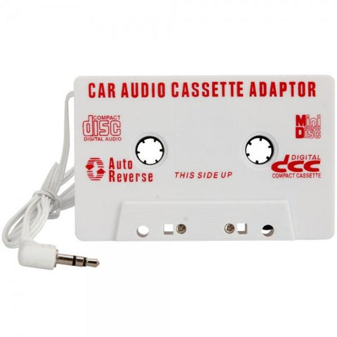 Car Cassette Tape Adapter for MP3 / IPOD / Nano / CD / Iphone White