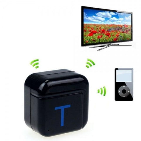 H-266T Wireless Bluetooth Music Transmitter A2DP HiFi 3.5mm Stereo Audio Dongle Adapter Black