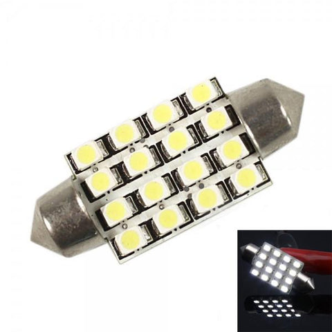 Interior 39mm 16 SMD LED Car Dome Light Bulbs White 12V