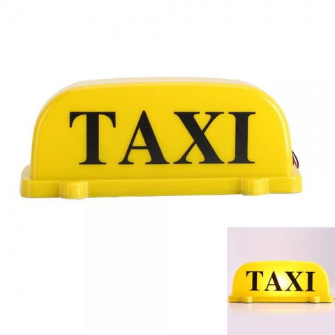 Magnetic Roof Top Taxi Cab Car Sign Lights Yellow 12V