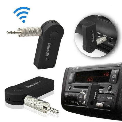 TS-BT35A08 3.5MM Wireless Bluetooth V3.0+ EDR Music Streaming Stereo Audio Receiver Adapter Mic Black