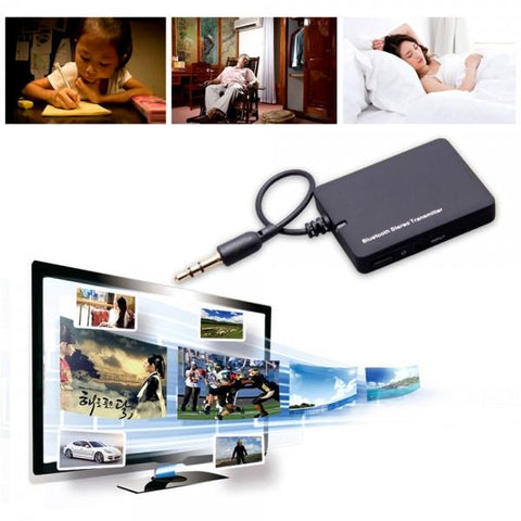 Mini 3.5mm Bluetooth Audio Transmitter A2DP Stereo Dongle Adapter Music Receiver for TV iPod Mp3 Mp4 PC