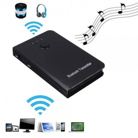TS-BT35F02 5V 3.5mm Wireless Bluetooth Audio Music Transmitter Home Car AUX Adapter Black