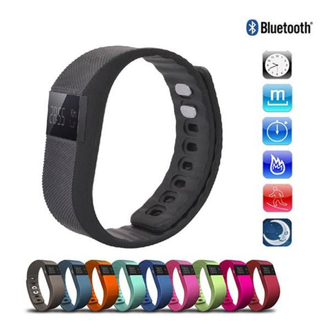 TW64 Pedometer Smart Bracelet Watch with Bluetooth 4.0 IP67 Anti-lost Function Black