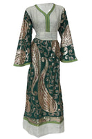 Peacock Caftan Dress