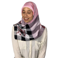 Luxury Square Plaid Designer Silk Scarf Hijab