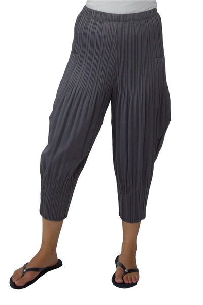 Permanent Pleated Faux Suede Pants
