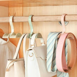 Pink 360-Degree Rotation Purse Hanging Holder