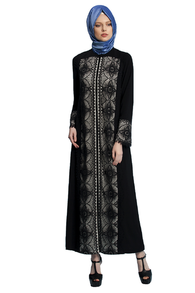 Turkish Lace Abaya by Olcay